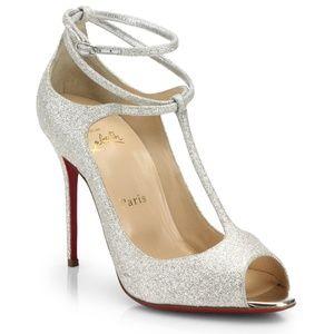 Christian Louboutin Talitha 100 Glitter Heels